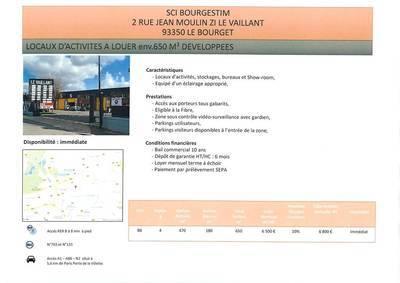 Local d'activité Le Bourget - 2.500m² - 16.000€