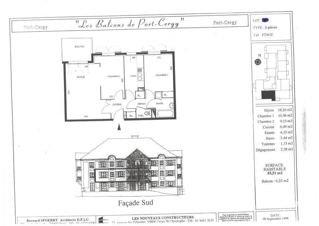 Location appartement 3 pi ces 56 m port cergy 56 m 972 de particulier particulier pap - Appartement a vendre cergy port ...