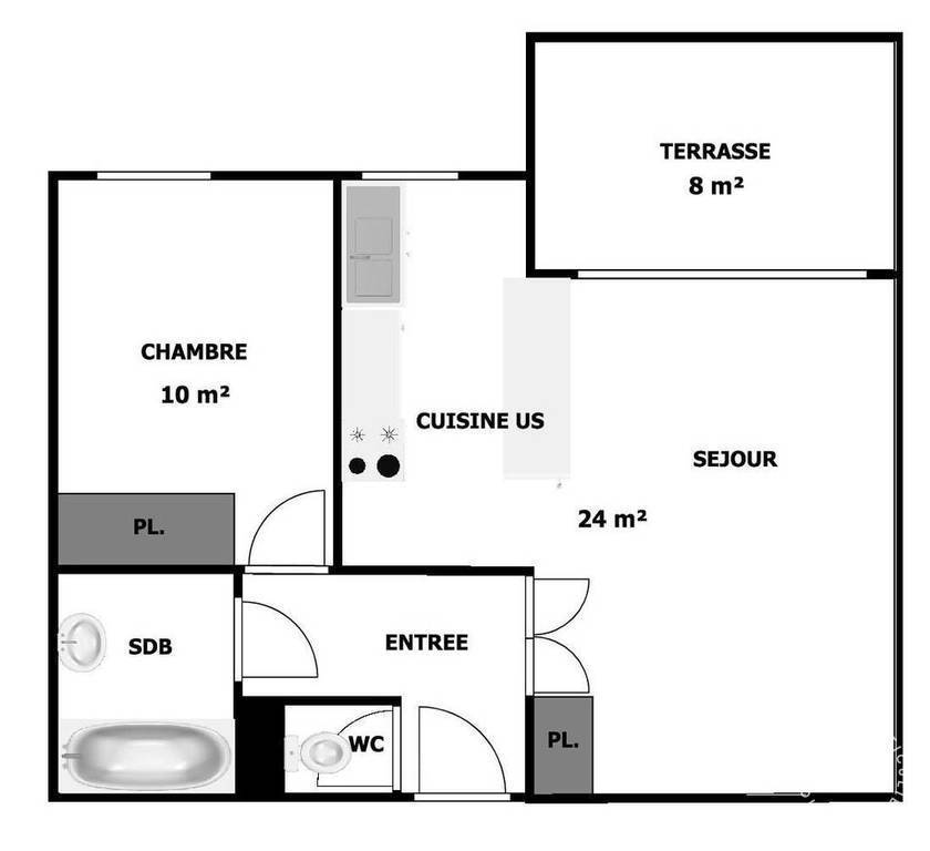 Location immobilier 1.090€ Clichy