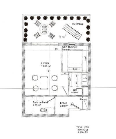 Location studio 33m� Villiers-Sur-Orge (91700) - 719€