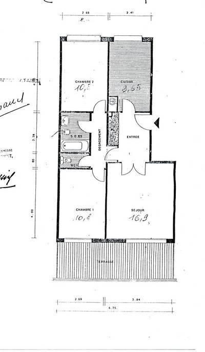 Location appartement 3pi�ces 63m� Clamart - 1.567€