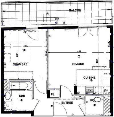 Location appartement 2pi�ces 45m� Montrouge (92120) - 1.250€