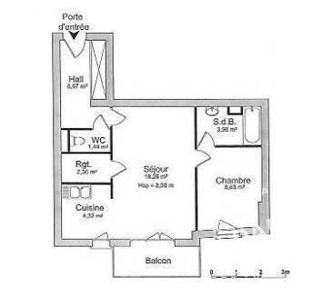 Location Appartement Orleans (45) 46m² 695€