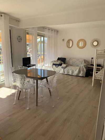 Location meublée appartement 2pièces 60m² Antibes / Juan-Les-Pins - 800€