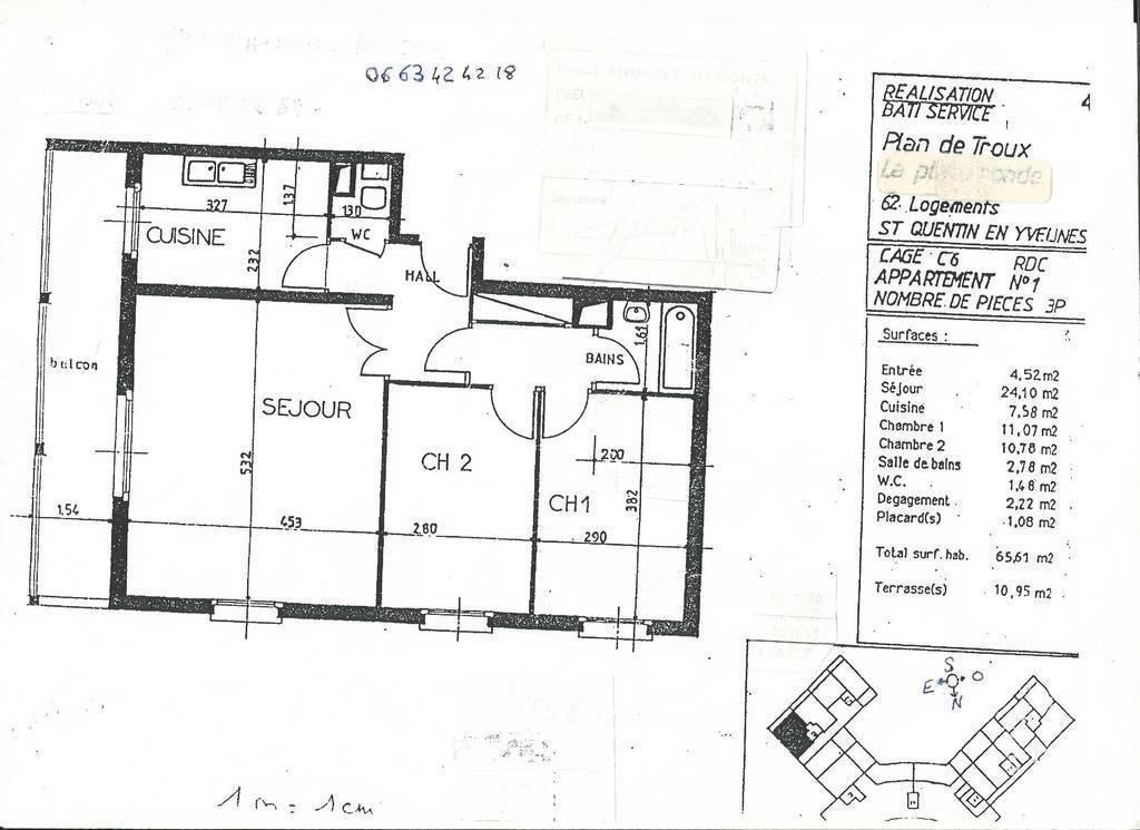 location appartement 3 pi ces 66 m montigny le bretonneux. Black Bedroom Furniture Sets. Home Design Ideas