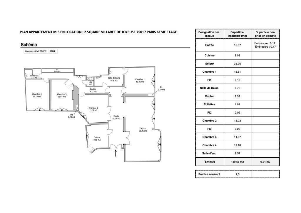 Appartement 131m²