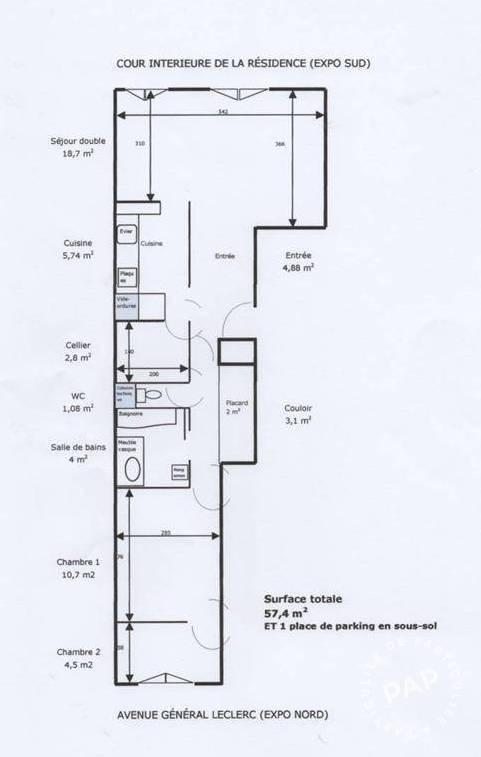 location meubl e appartement 2 pi ces 57 m boulogne billancourt 92100 57 m e de. Black Bedroom Furniture Sets. Home Design Ideas