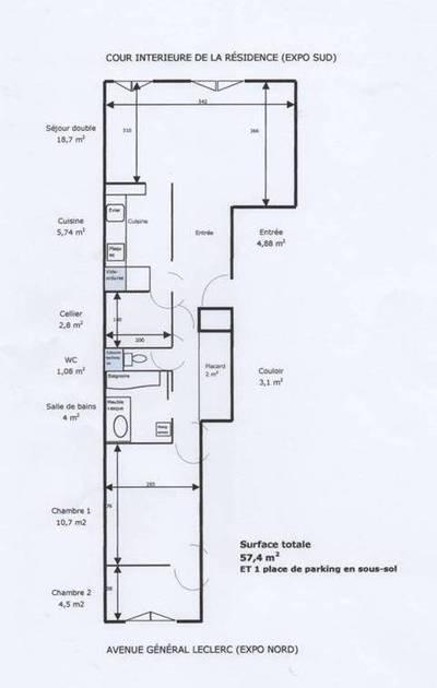 Location meubl�e appartement 2pi�ces 57m� Boulogne-Billancourt (92100) - 1.600€