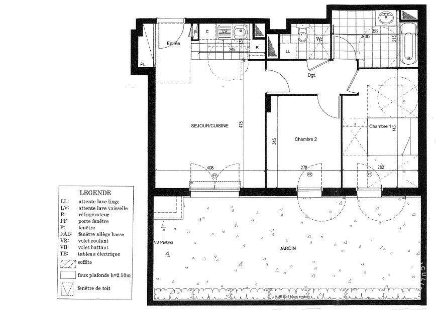 location appartement 3 pi ces 60 m nanterre 92000 60. Black Bedroom Furniture Sets. Home Design Ideas