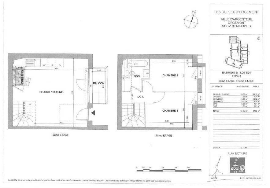 location appartement 3 pi ces 51 m argenteuil 51 m. Black Bedroom Furniture Sets. Home Design Ideas