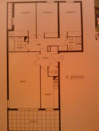 Location appartement 4pi�ces 90m� Marseille - 995€