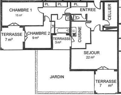 Location appartement 3pièces 80m² Beauchamp (95250) - 1.250€
