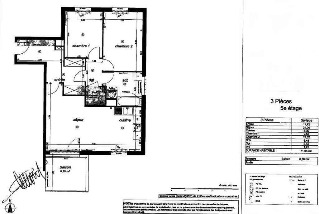 location appartement 3 pi ces 71 m bagneux 92220 71 m e de particulier. Black Bedroom Furniture Sets. Home Design Ideas