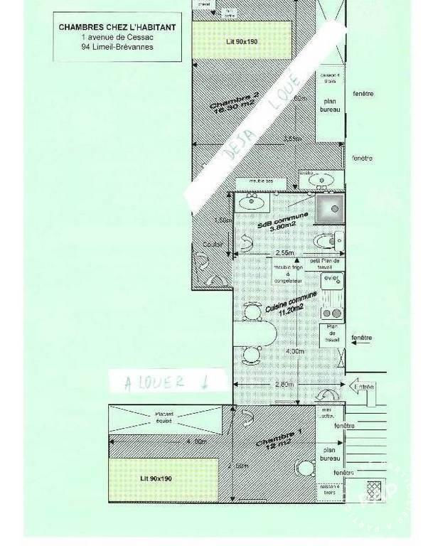 Location meubl e chambre 12 m limeil br vannes 12 m - Contrat location chambre chez l habitant ...