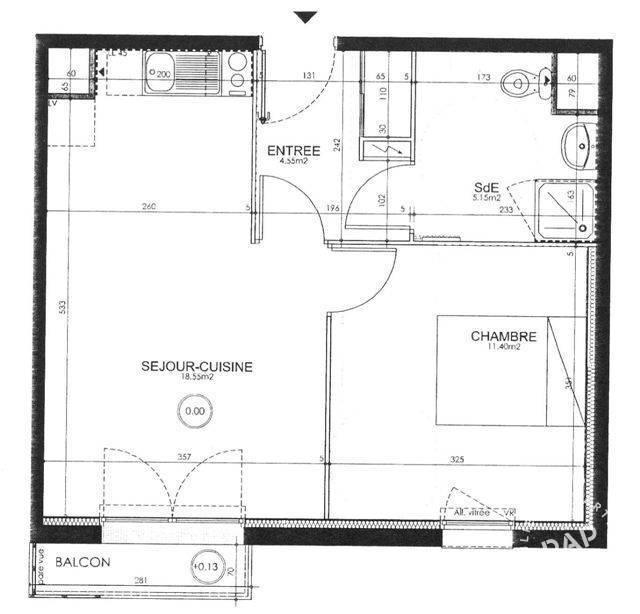 location appartement 2 pi ces 40 m nantes 44 40 m 575 e de particulier particulier pap. Black Bedroom Furniture Sets. Home Design Ideas