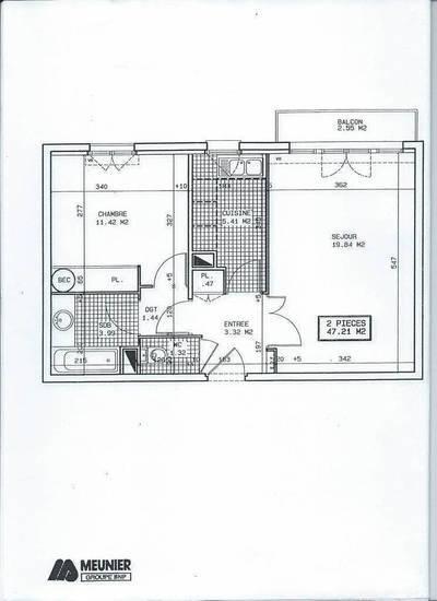 Location appartement 2pièces 47m² Saint-Maurice (94410) - 1.050€