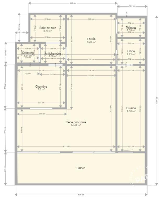 Immobilier Neuilly-Sur-Seine (92200) 1.945€ 76m²