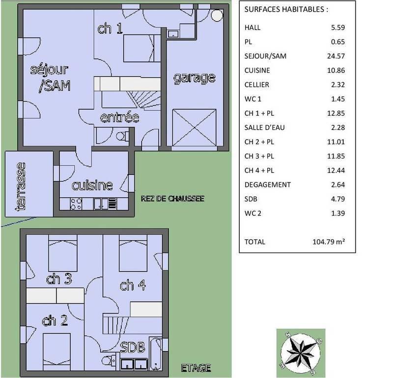 Location maison 105 m muret 31600 105 m 900 e de for Location garage muret