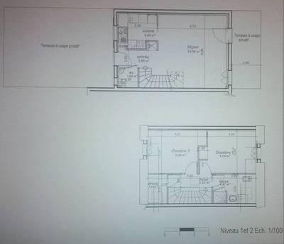 Location appartement 3pièces 63m² Villejust (91140) - 1.100€