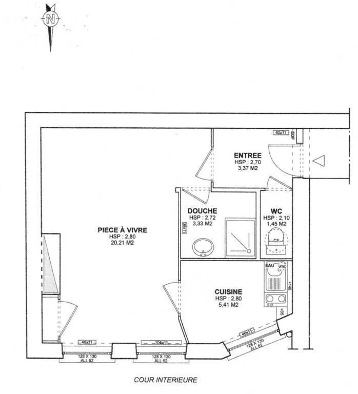 Location meubl e studio 34 m lyon 6e 34 m 695 e de for Location meublee impot