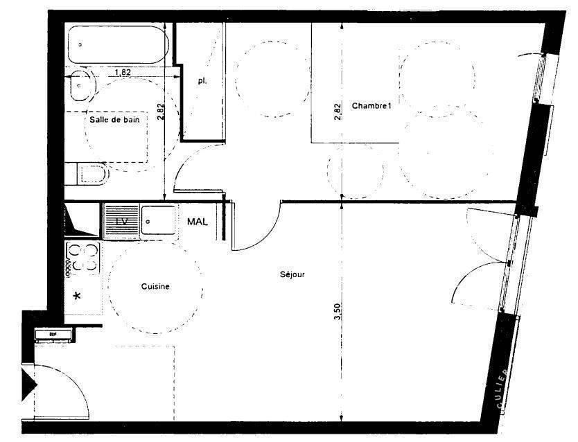 Location Appartement 45m²