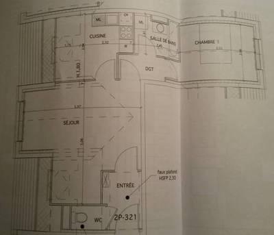 Location appartement 2pi�ces 48m� Neufmoutiers-En-Brie (77610) - 770€