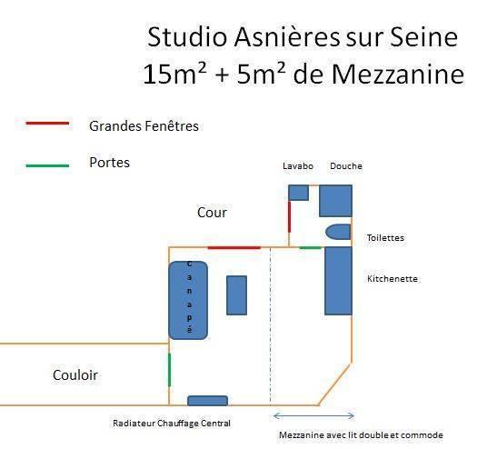 Location meubl e studio 20 m asnieres sur seine 92600 - Abri jardin inferieur a m asnieres sur seine ...