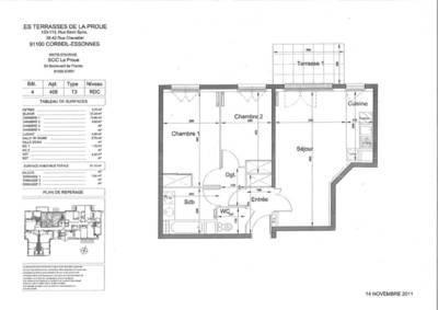 Location appartement 3pièces 64m² Corbeil-Essonnes (91100) - 890€
