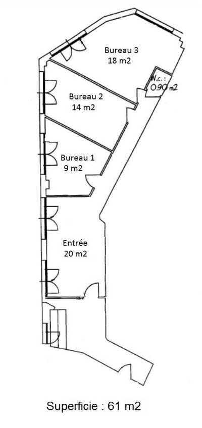 Bureaux, local professionnel Boulogne-Billancourt (92100) - 61m² - 1.800€