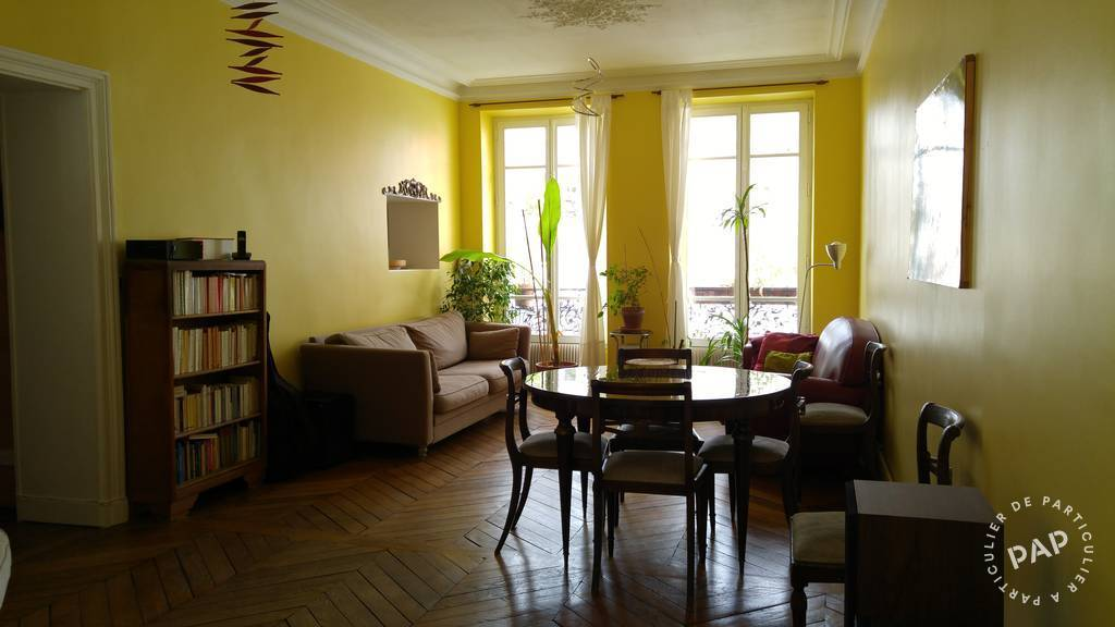Location meubl e appartement 2 pi ces 62 m paris 20e 62 for Fenetre double battant