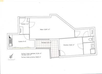 Location appartement 2pi�ces 53m� Cachan (94230) - 1.070€
