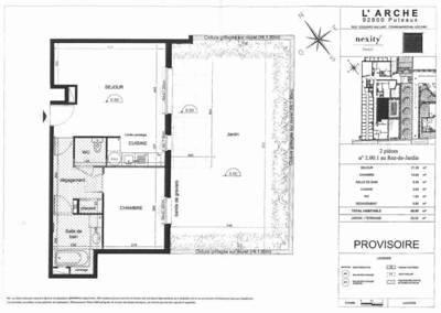 Location appartement 2pi�ces 50m� Puteaux (92800) - 1.390€