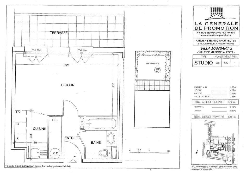 Location studio 27 m maisons alfort 94700 27 m 768 for Auto ecole maison alfort