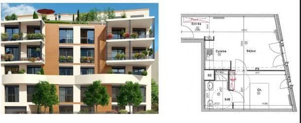 Location appartement 2pièces 41m² Colombes (92700) - 1.090€
