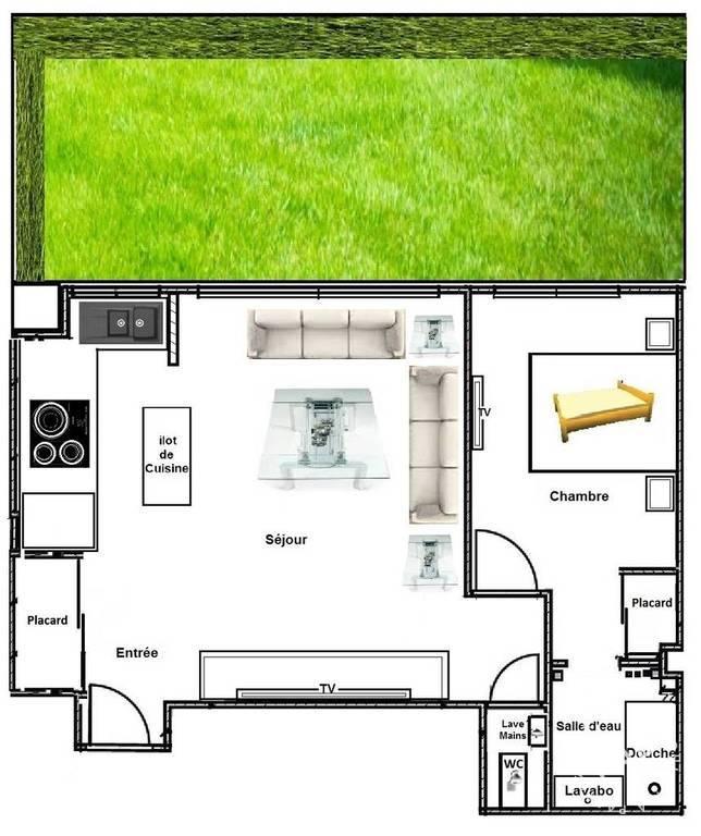 location meubl e appartement 2 pi ces 51 m neuilly sur. Black Bedroom Furniture Sets. Home Design Ideas