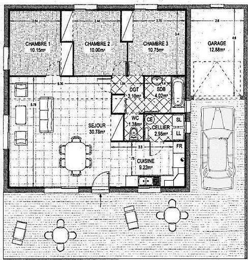 location maison 81 m abzac 33230 81 m 750 e de particulier particulier pap. Black Bedroom Furniture Sets. Home Design Ideas