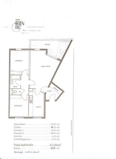 Location appartement 4pièces 65m² Clermont-Ferrand (63) Theix