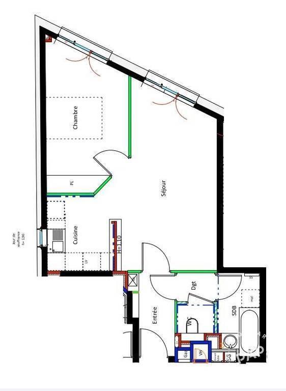 location appartement 2 pi ces 48 m asnieres sur seine 92600 48 m 960 de particulier. Black Bedroom Furniture Sets. Home Design Ideas