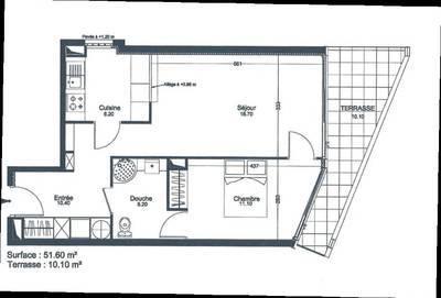Location appartement 2pièces 51m² Asnieres-Sur-Seine (92600) - 1.170€