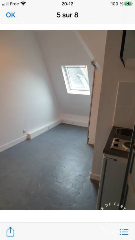 Location appartement studio Paris 12e