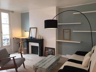 Location meublée appartement 2pièces 46m² Paris 18E - 1.300€