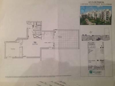 Location appartement 2pièces 49m² Villeurbanne (69100) - 740€