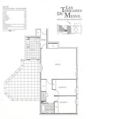Location appartement 3pièces 78m² Maisons-Laffitte (78600) - 1.445€
