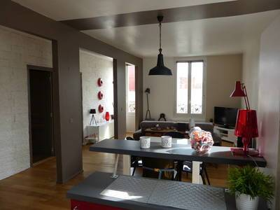 Location meublée appartement 3pièces 61m² Asnieres-Sur-Seine (92600) - 1.400€