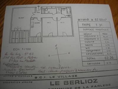 Location appartement 4pièces 62m² La Farlede (83210) - 798€