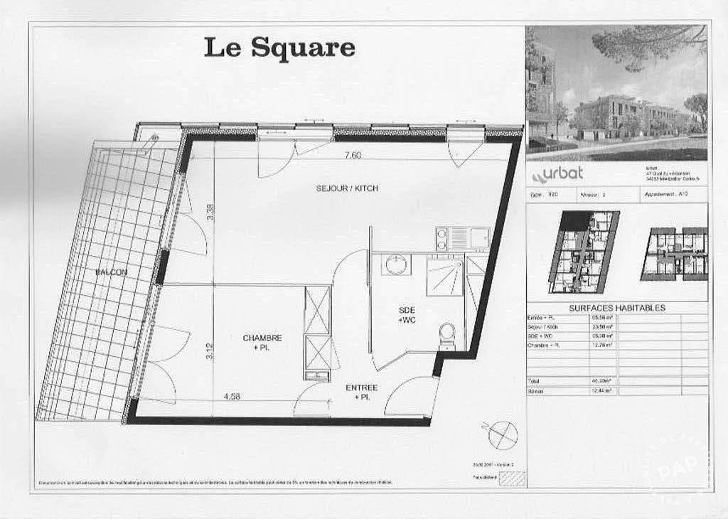 location appartement 2 pi ces 47 m castelnau le lez 34170 47 m 725 e de particulier. Black Bedroom Furniture Sets. Home Design Ideas