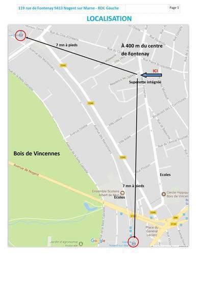 Location appartement 3pièces 60m² Nogent-Sur-Marne (94130) - 1.250€