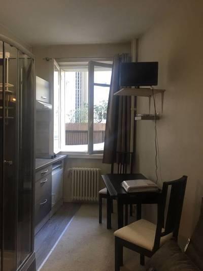 Location meublée studio 13m² Paris 16E - 730€