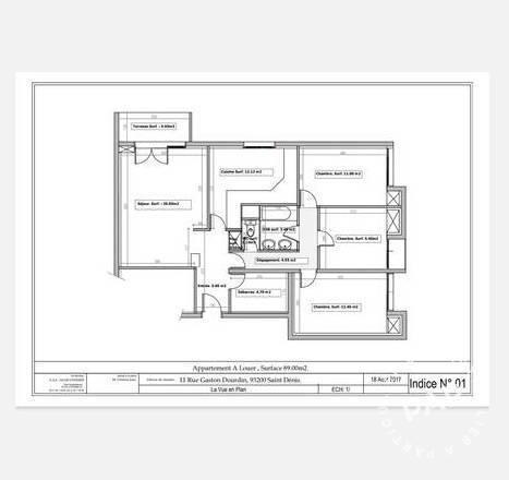 Location Appartement Saint-Denis 87m² 1.700€