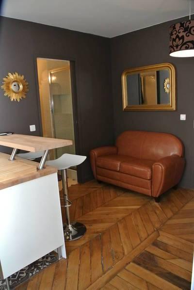 Location meublée appartement 2pièces 25m² Paris 18E - 1.300€